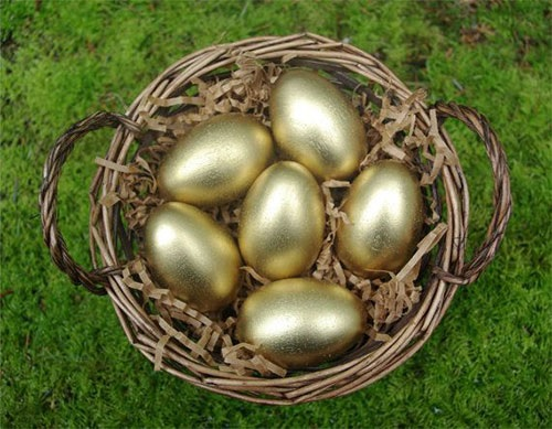 Easter is the only time when all your eggs should be in one basket.